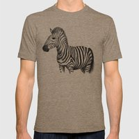 Zebra Mens Fitted Tee Tri-Coffee SMALL