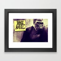Don't Mind Me Poster Framed Art Print