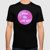Drink the Wild Air Mens Fitted Tee Black SMALL