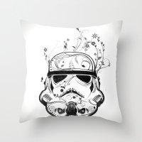 Flower Trooper Throw Pillow