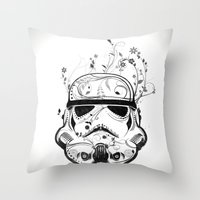 Flower Trooper Throw Pillow