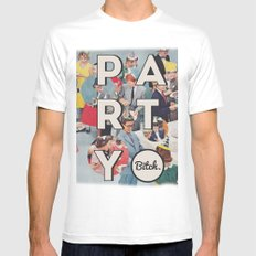 party Mens Fitted Tee SMALL White