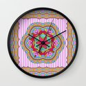 Mix&Match;  Pretty Pink Mandala Meditation pillow 03 Wall Clock