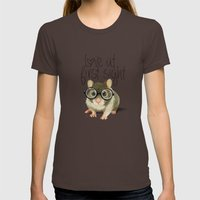 A Small Mouse With Glass… Womens Fitted Tee Brown SMALL