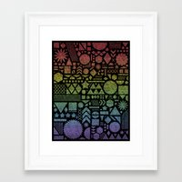 Modern Elements with Spectrum. Framed Art Print