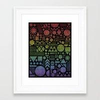 Modern Elements With Spe… Framed Art Print