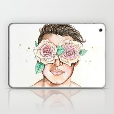 White Roses In Their Eye… Laptop & iPad Skin