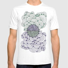 Shape 4 White SMALL Mens Fitted Tee