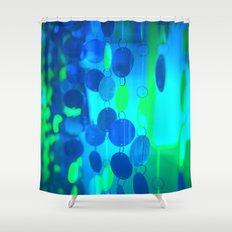 UNDERWATER GLAM CIRCLES #Blue #2 Shower Curtain