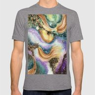 Carina Nebula Mens Fitted Tee Tri-Grey SMALL
