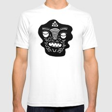 stencil face White SMALL Mens Fitted Tee