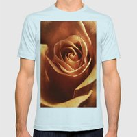 Dirty Rose Mens Fitted Tee Light Blue SMALL
