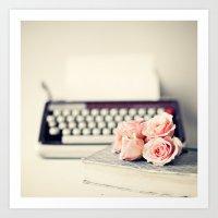 Romance Writing Art Print
