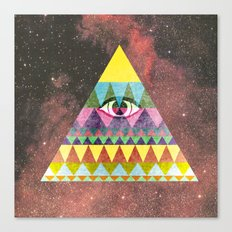 Pyramid in Space. Canvas Print