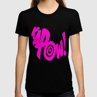 KAPOW! # 3 Womens Fitted Tee Black SMALL