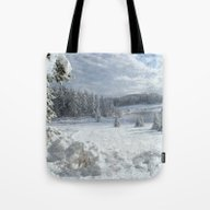 Scenery Forest Winter Wo… Tote Bag