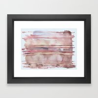 Elusive Strata Framed Art Print
