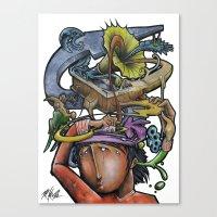 Crazy 4 Music - Mr.Klevra Canvas Print