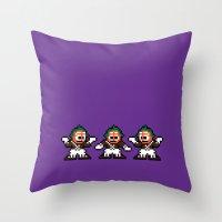 Pixelly Wonka Throw Pillow