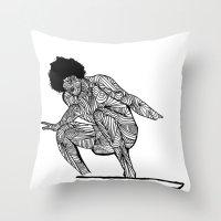 70s surfer Throw Pillow