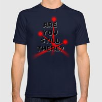 Are You Still There? Mens Fitted Tee Navy SMALL