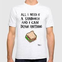 All I Need Is A Sandwich Mens Fitted Tee Ash Grey SMALL