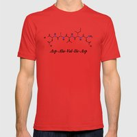 David - Alphabet of Life Mens Fitted Tee Red SMALL