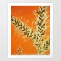 Orangy Art Print