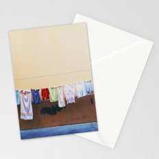 Drying laundry Stationery Cards