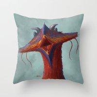 Beak portrait Throw Pillow