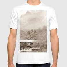 WINTER - SEPIA Mens Fitted Tee White SMALL
