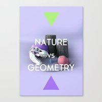 Nature Vs Geometry Canvas Print