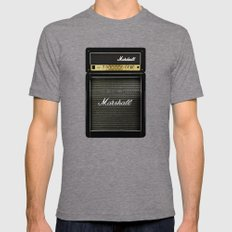 Guitar Electric Amp Ampl… Mens Fitted Tee Tri-Grey SMALL