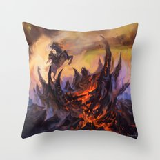 Lavaclaw Reaches Throw Pillow