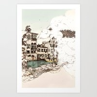 Vivaldi's morning in Venice Art Print