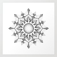 Dotwork Mandala Art Print