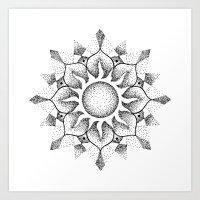 Dotwork mandala Art Print