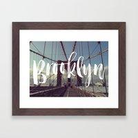 Brooklyn Bridge Photogra… Framed Art Print
