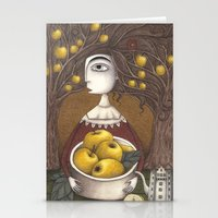 Portrait Of An Apple Orc… Stationery Cards