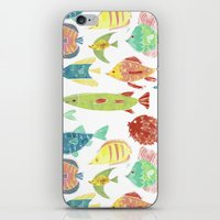 Little flowers and friends iPhone & iPod Skin