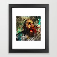 Sage scream Framed Art Print