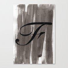 - F - Canvas Print