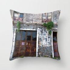 Old Sicilian Facade Of T… Throw Pillow
