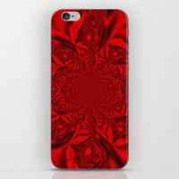 Red Kaleidoscope iPhone & iPod Skin