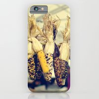 iPhone & iPod Case featuring Indian Corn at the Farmers Market by ettible