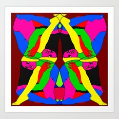 Boxed Gymnast Art Print