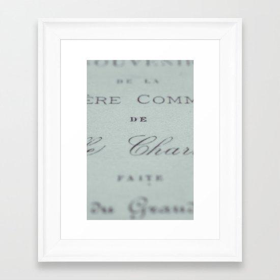 Fonts Framed Art Print
