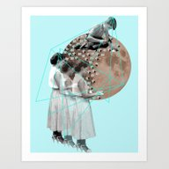Art Print featuring Gothic Moon Maker by Ceren Kilic