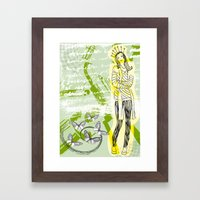 Unhappy Girl Framed Art Print
