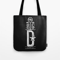 The Big D (wht) Tote Bag